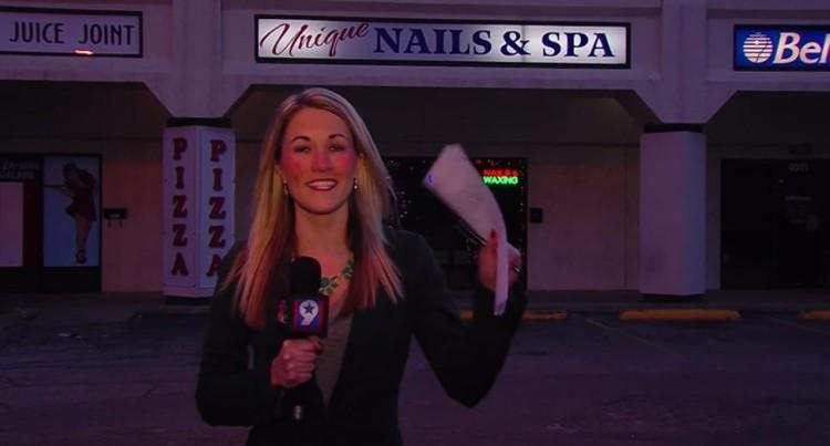 "Local News Reporter Kim Powell Performs An Impressive Rendition Of ""Alphabet Aerobics"""
