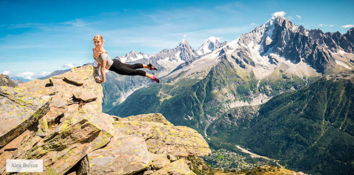 Ballerina Performs Incredible Dances On The Side Of A Mountain