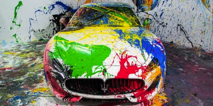 Maserati Becomes A Work Of Artistic Expression After Being Splashed With Colorful Paints