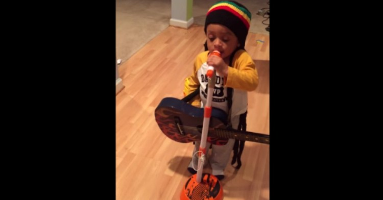 Adorable Toddler Is Practicing To Be The Youngest (And Most Adorable!) Bob Marley Impersonator