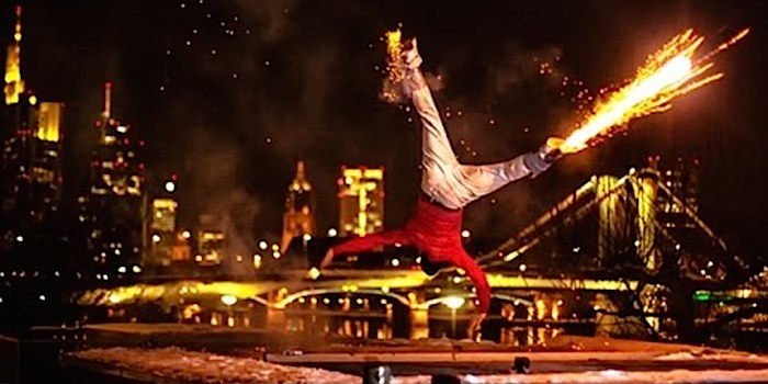 Incredible Breakdancers Set Off Fireworks In Their Feet While Performing A Magical Light Show!