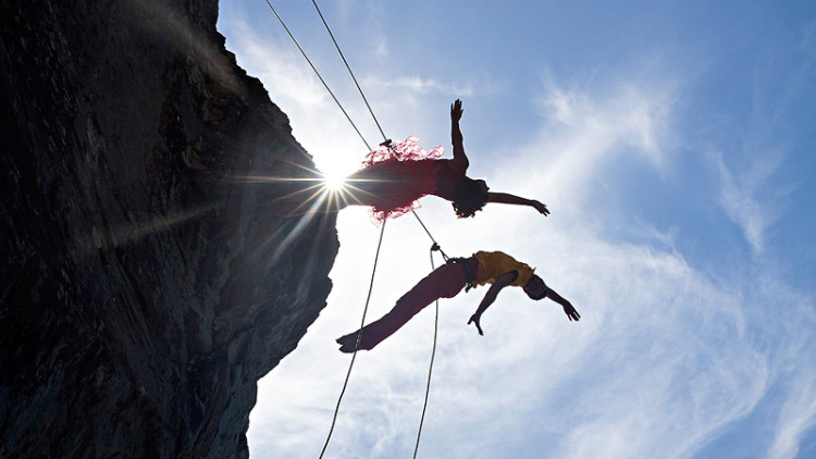Dance Troupe Gives An Unreal Performance On The Side Of A Mountain!