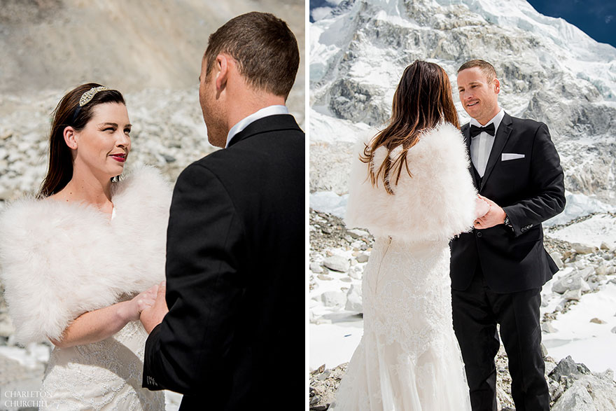 Couple Gets Married On Mount Everest After Trekking For 3 Weeks, And Their Wedding Photos Are Epic 42
