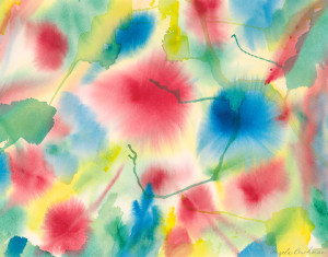"""Floral Burst"" painting"