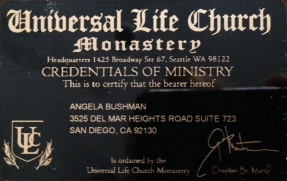 Ordained Minister Certificate