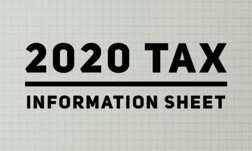 2020 tax information