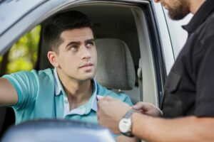 Talking with cop