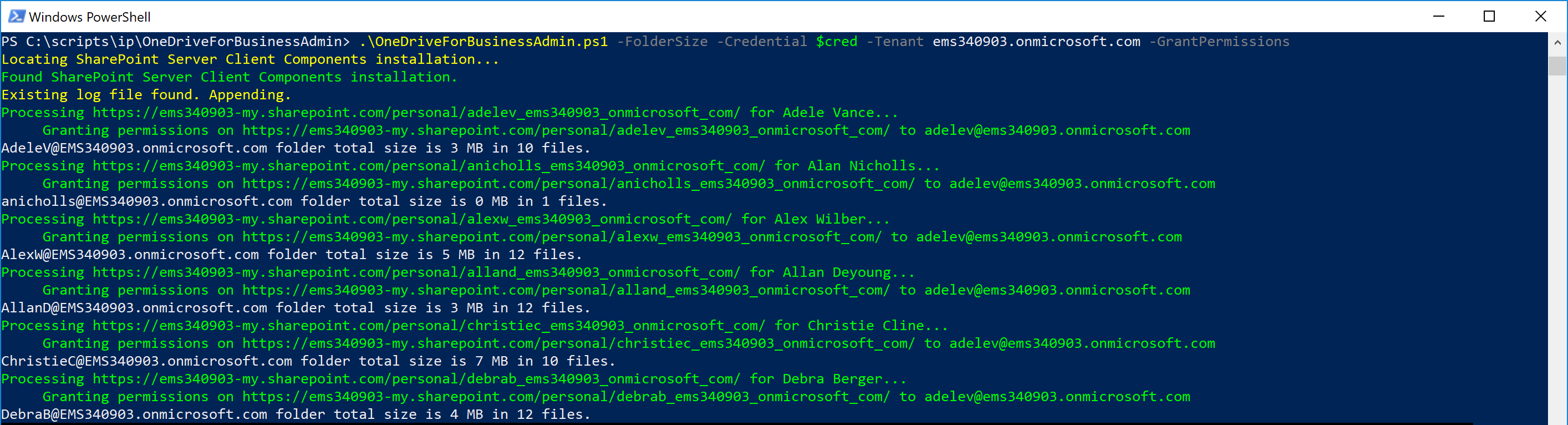 Update: OneDrive for Business Admin Tool