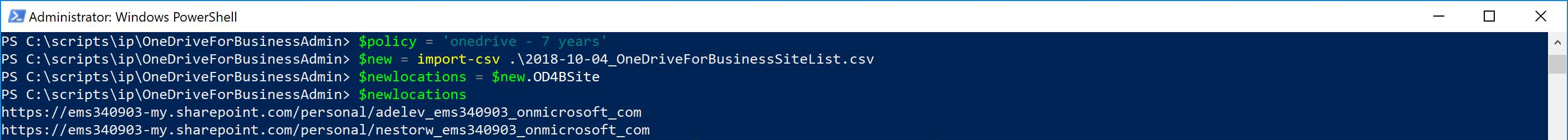 Adding OneDrive Locations to an Existing Retention Policy