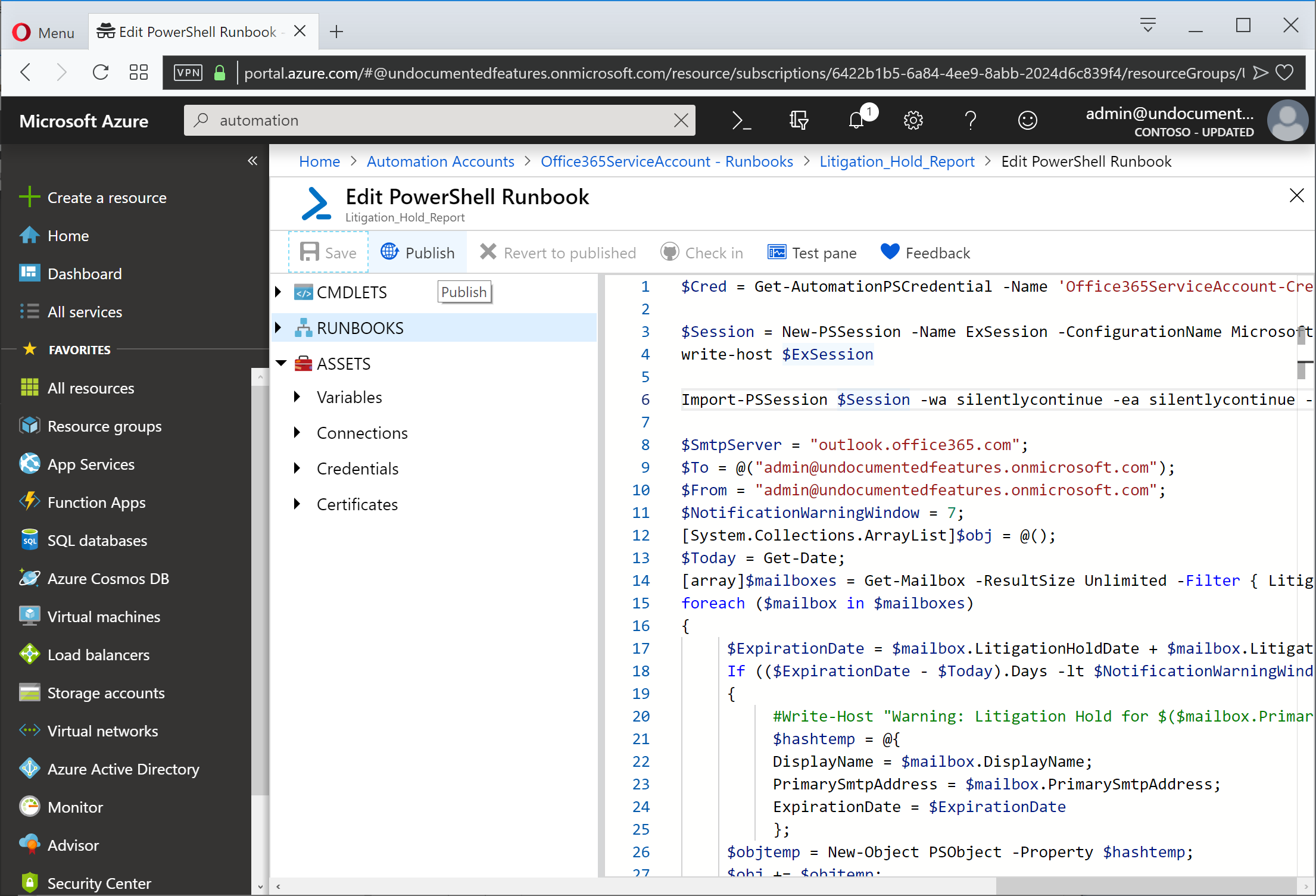 Getting Around the Basics of Azure Automation for Office 365