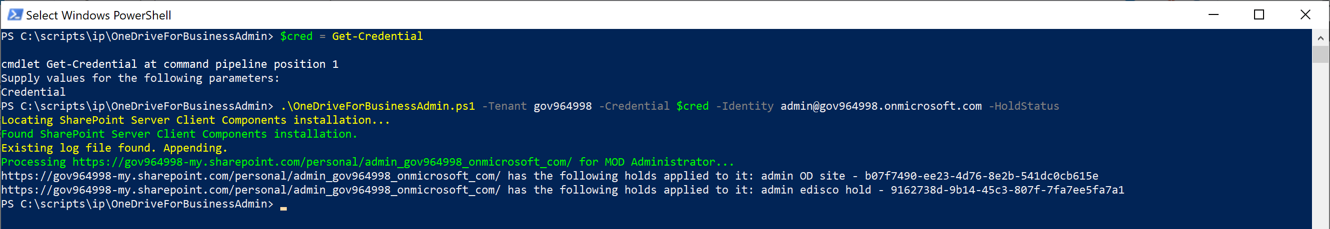 Update to the OneDrive for Business Admin Tool