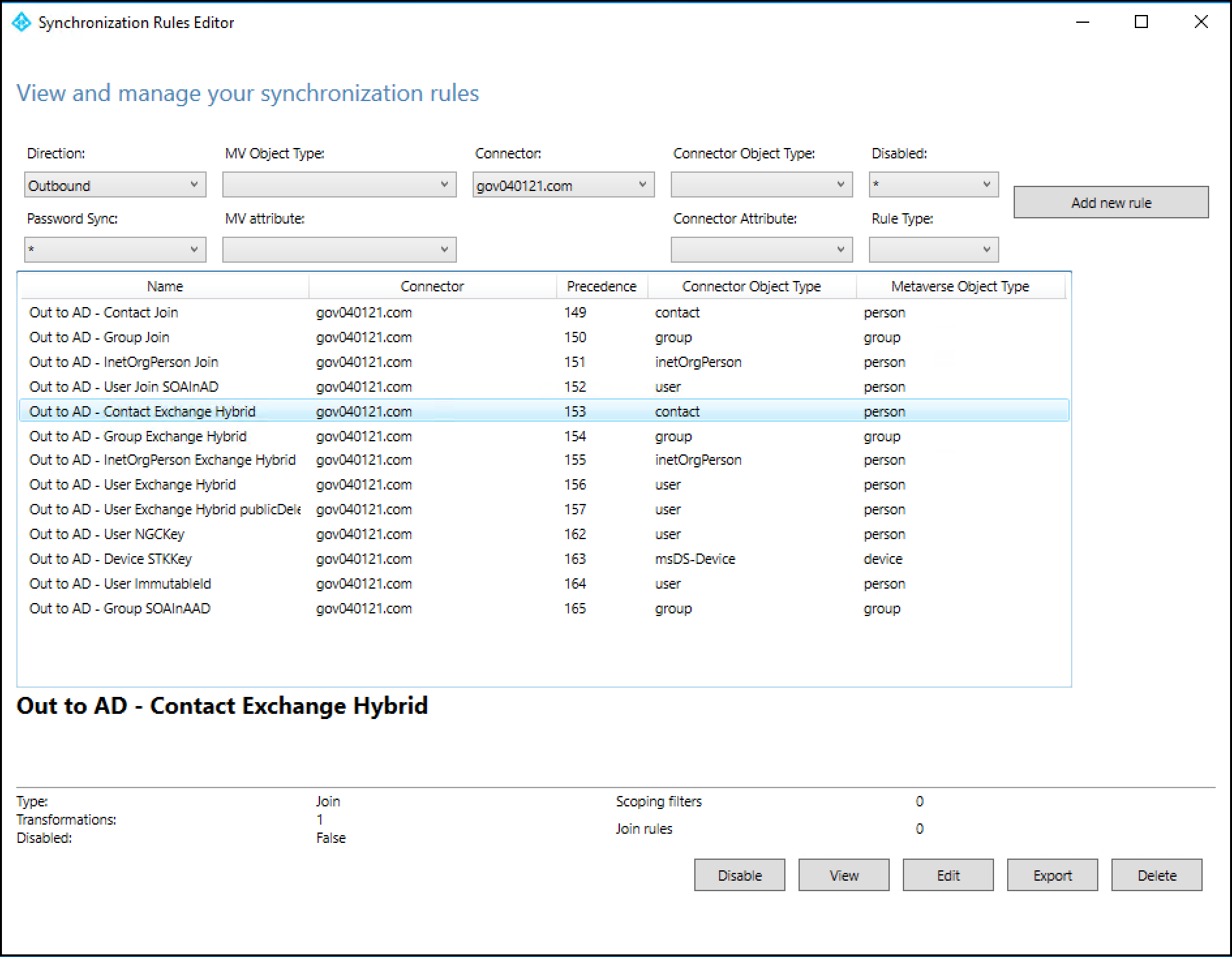 Disabling Writeback for GALSync Contacts