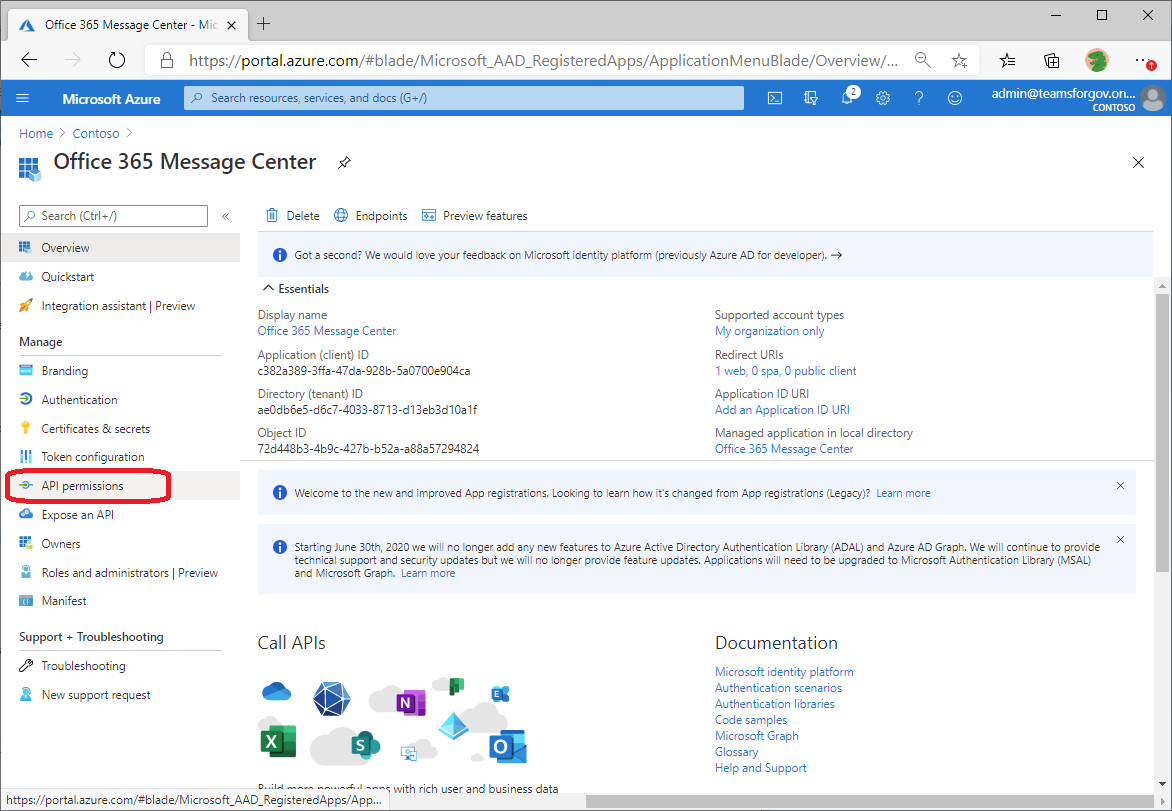 Office 365 Service Communications API PowerShell Script