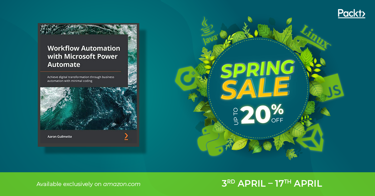 Spring Promo for Workflow Automation with Microsoft Power Automate