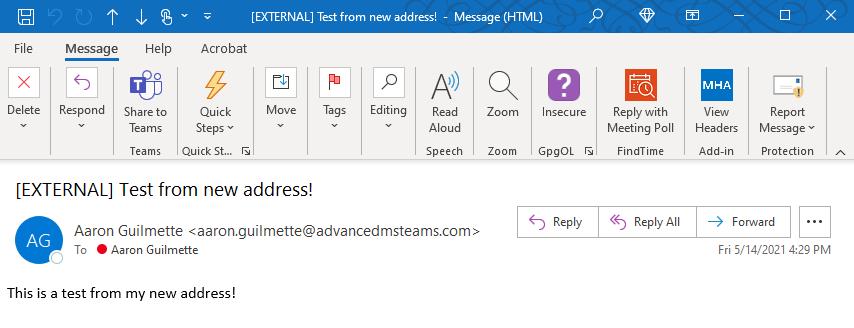 Keep calm and SendAs a Proxy Address