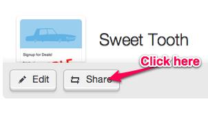 Share webform Button