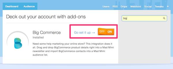 Activate Bigcommerce, ecommerce email marketing Addon