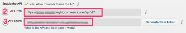 Bigcommerce API details for ecommerce integration