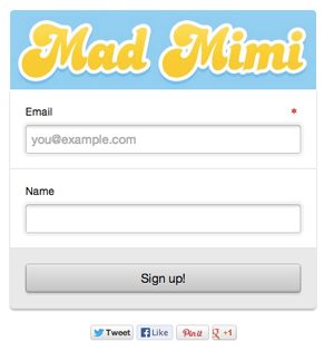 email signup form example