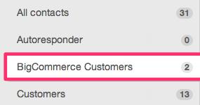 bigcommerce customer list