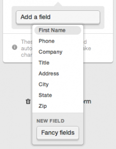 adding a fancy field to your web form