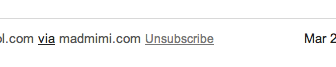 the unsubscribe link in the header of Gmail emails