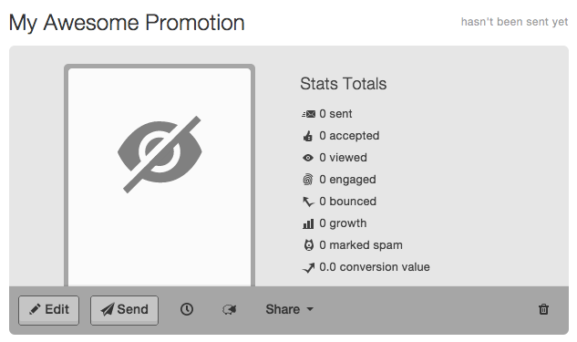 no thumbnail showing for promotion on Mad Mimi Dashboard, showing eyeball icon