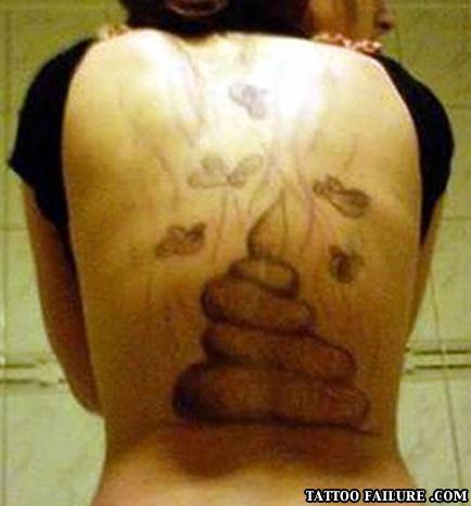 dog poop tattoo fail