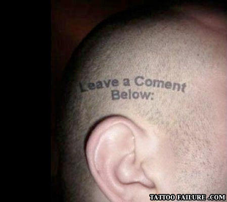 leave a comment tattoo