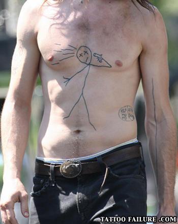 stick man tattoo fail