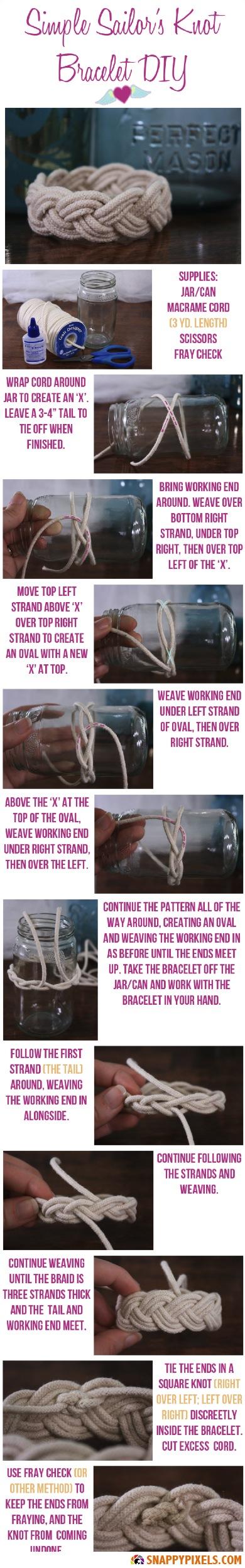 DIY Sailor's Knot Bracelet Instructions