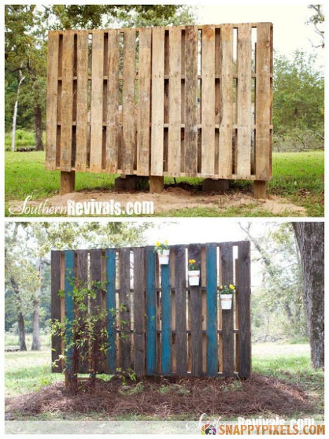 Pallet-Projects-Garden-Wall