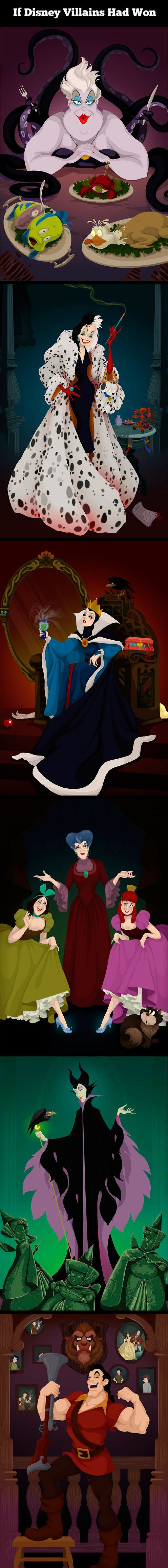 If Disney Villains Had Won in the End – 6 Pictures