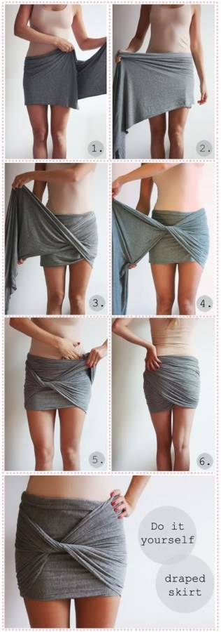 DIY Cothes with No Sewing Needed
