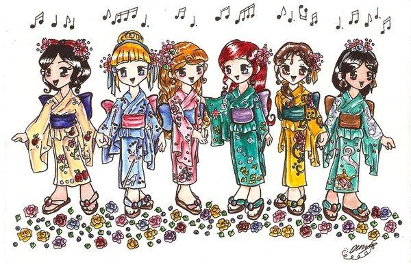 Chibi_Yukata_Disney_Princesses_by_vulpixfairy-picture