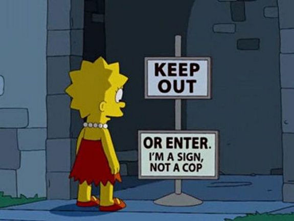 40 Funniest Signs from The Simpsons