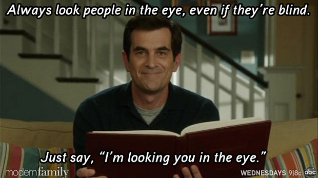 look them in the eye-funny-modern-family-memes-12