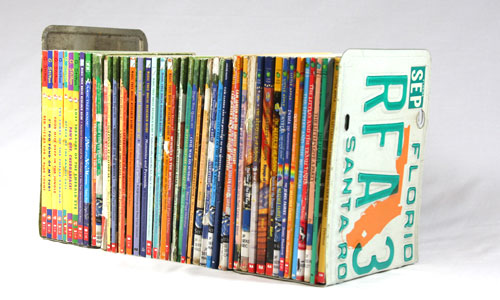 diy-license-plate-bookends