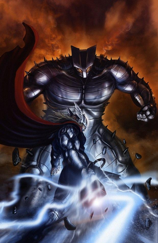 thor vs destroyer