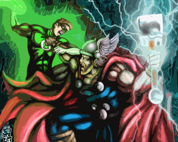 thor vs green lantern