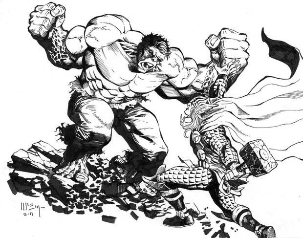thor vs hulk 5