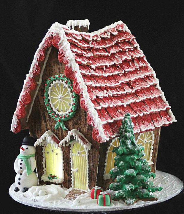 Simple-Inspiring  Gingerbread House Ideas-3