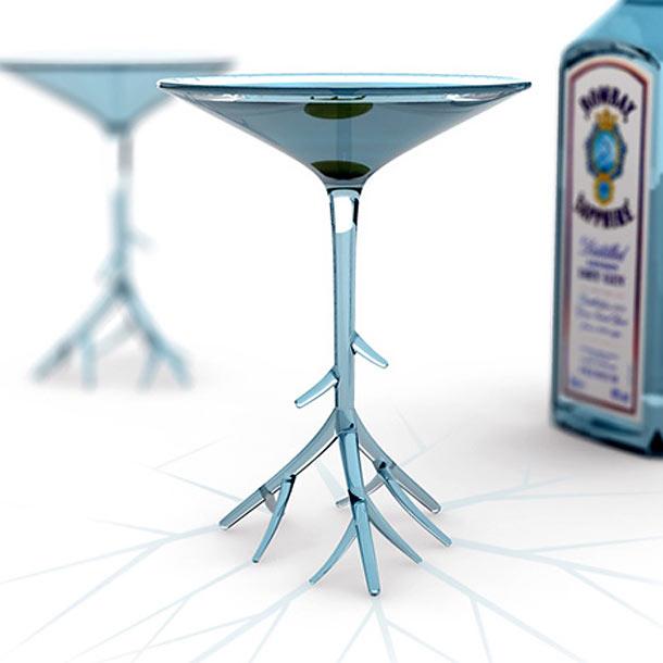 botantical martini glass