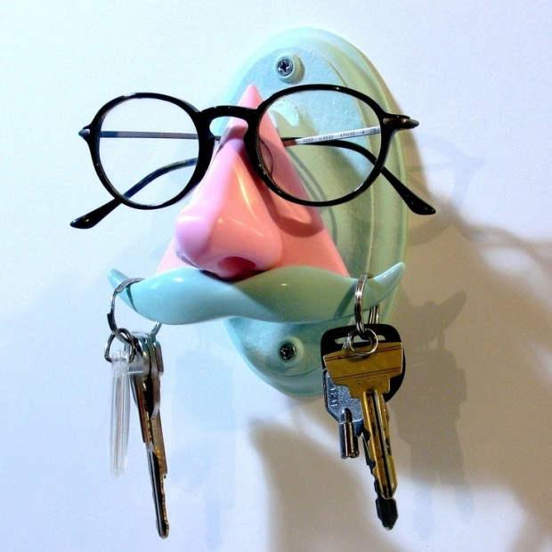 glasses and stache