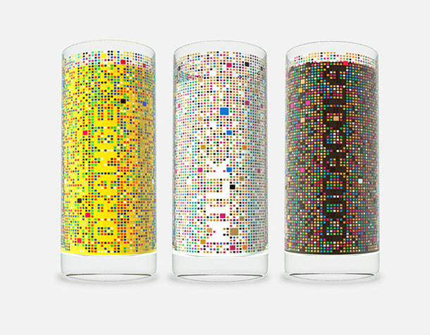 mosaic cipher drinking glasses