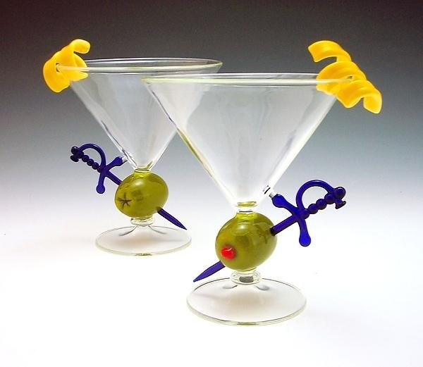 olive martini glass