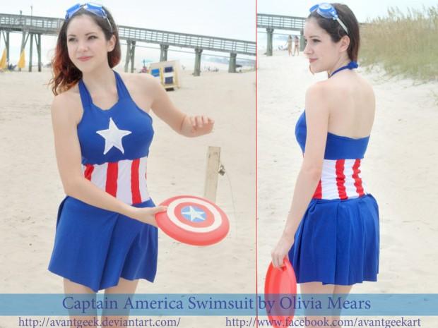 DIY Captain America Swimsuit