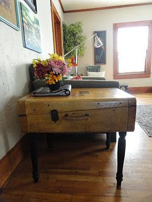 DIY Suitcase Table Idea