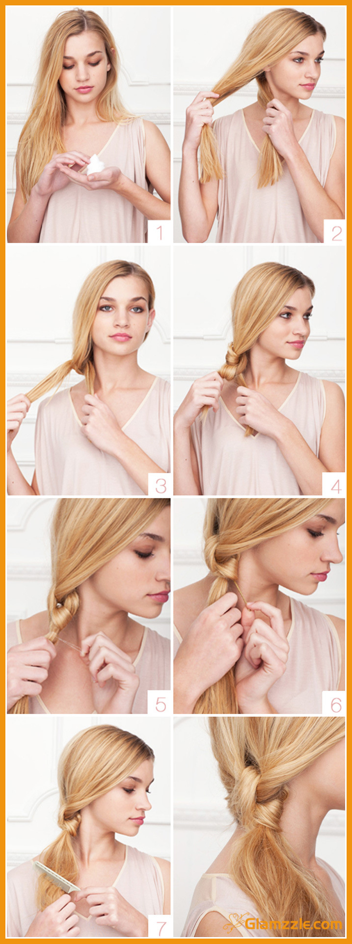 Hairstyles for Long Hair Step by Step-10
