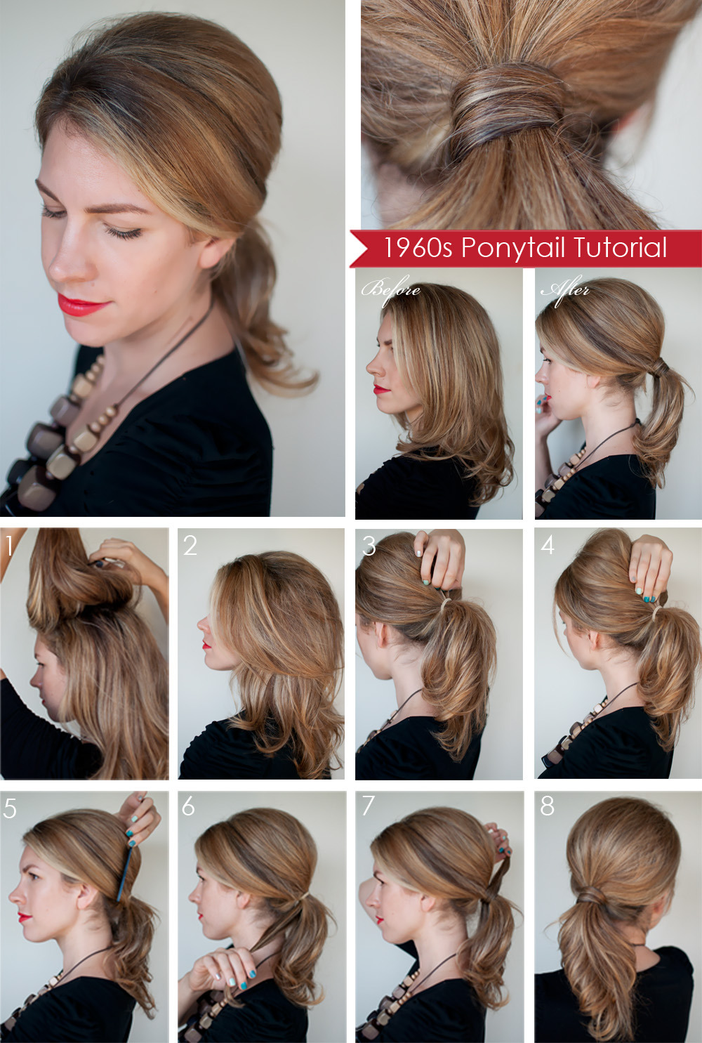 Hairstyles for Long Hair Step by Step-6